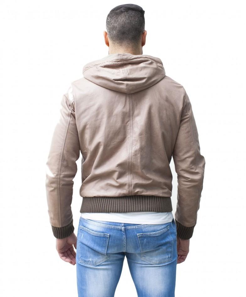men-s-leather-jacket-genuine-soft-leather-hood-bomber-central-zip-beige-color-u408 (3)