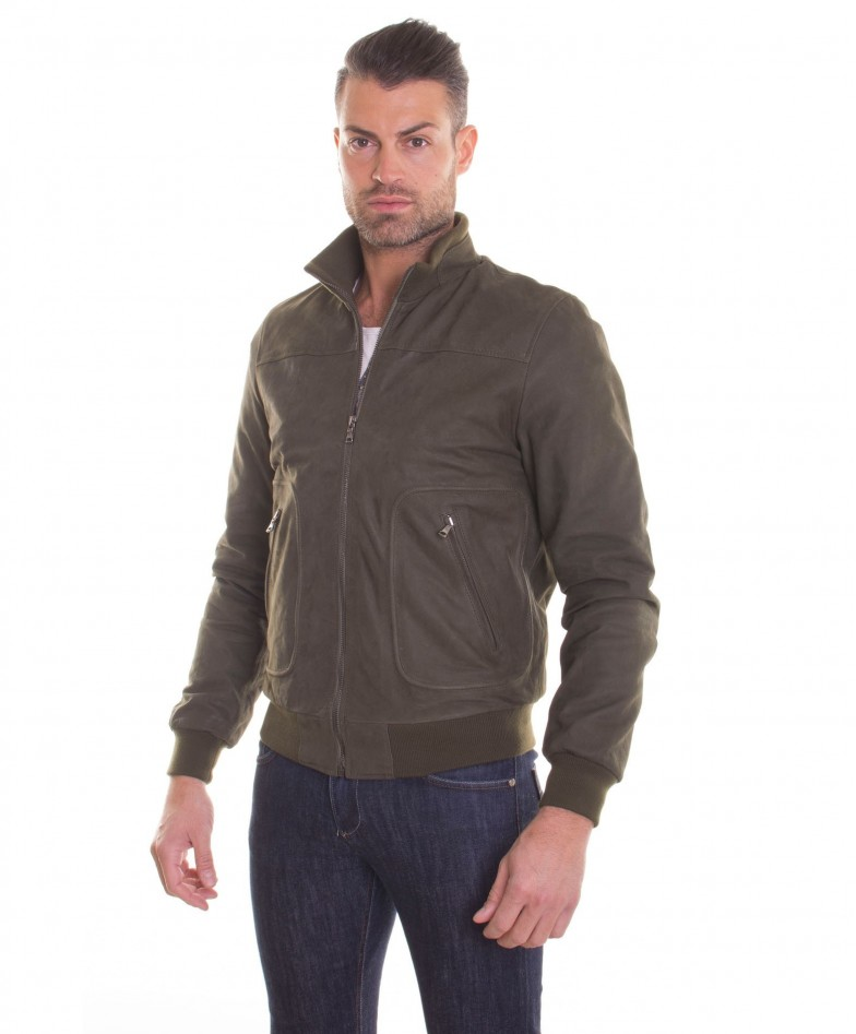 men-s-leather-jacket-genuine-soft-leather-nabuk-style-bomber-wool-cuffs-and-bottom-central-zip-green-color-mod-alex (1)