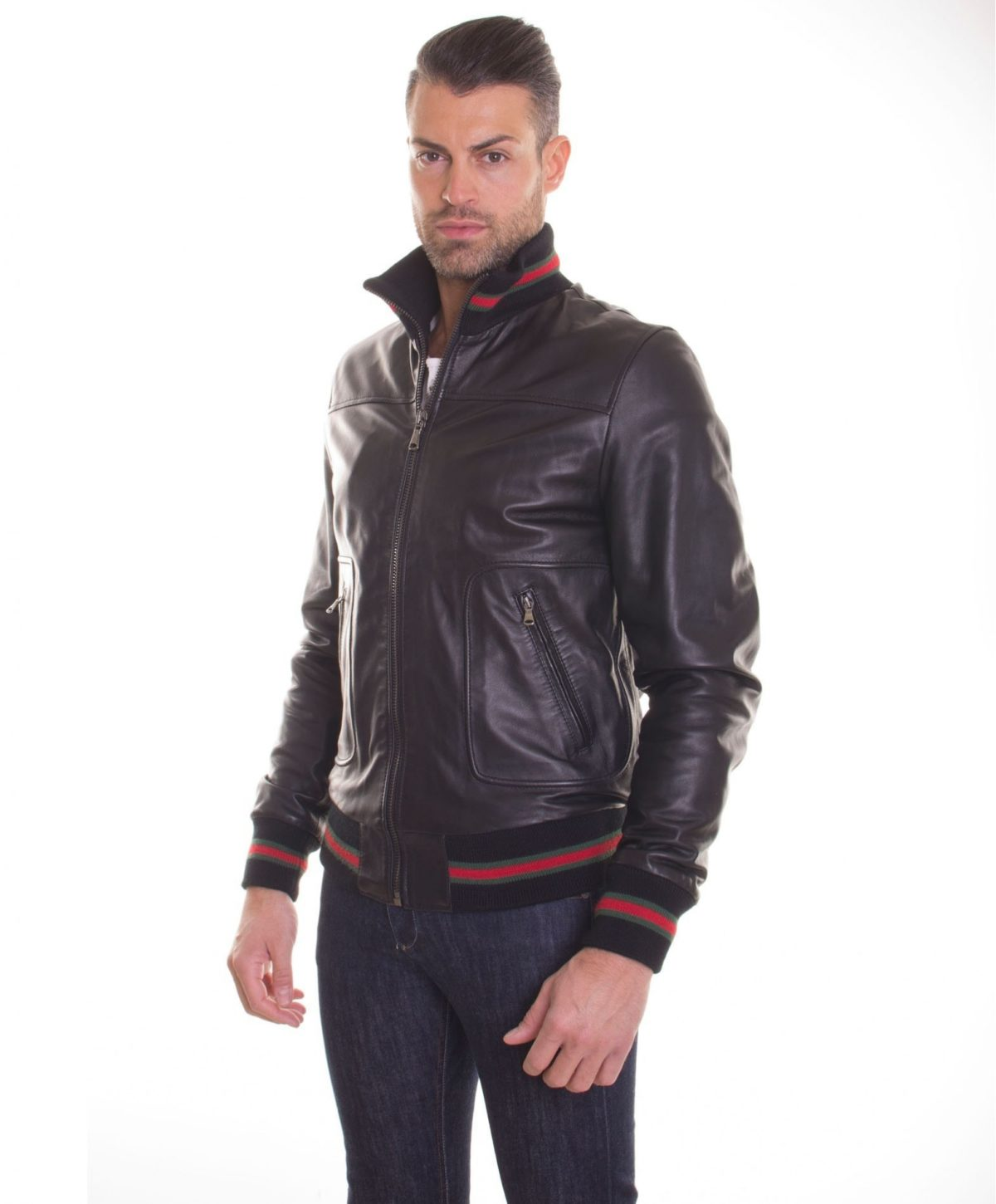 men-s-leather-jacket-genuine-soft-leather-style-bomber-bicolor-wool-cuffs-and-bottom-central-zip-black-color-mod-alex (2)