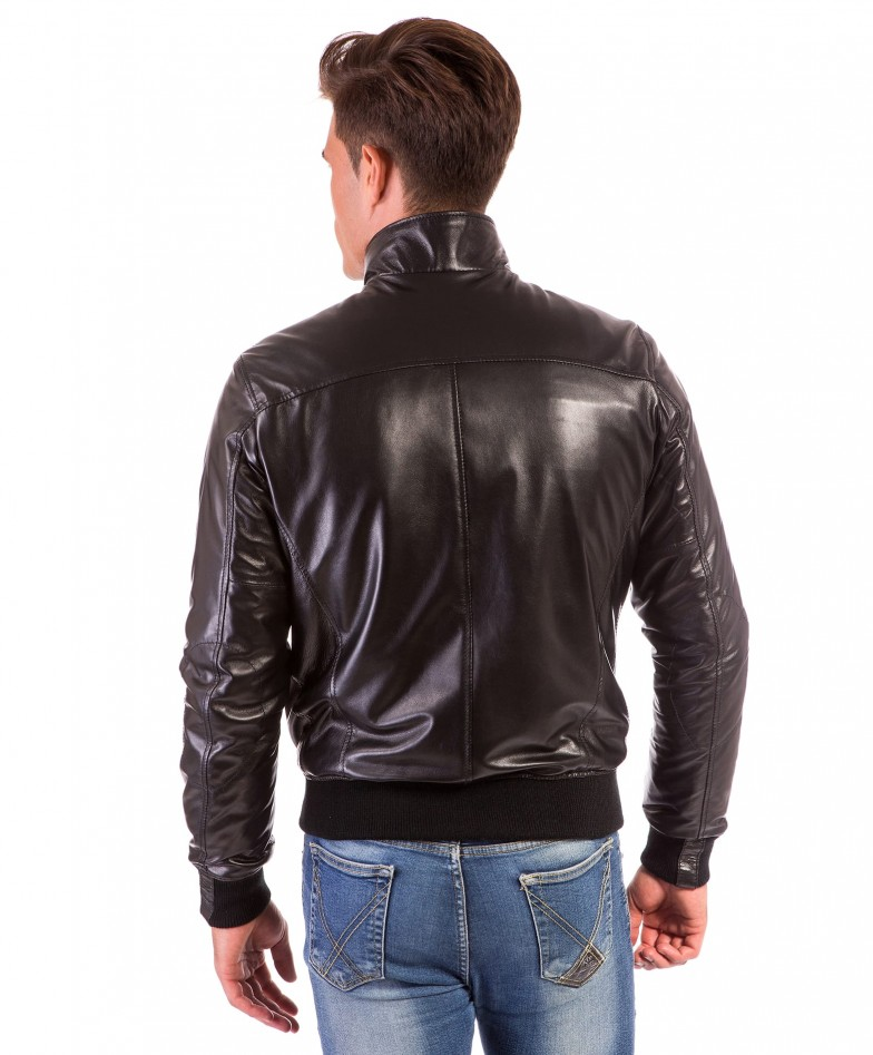 men-s-leather-jacket-genuine-soft-leather-style-bomber-bicolor-wool-cuffs-and-bottom-one-zip-pocket-black-color-thil (3)