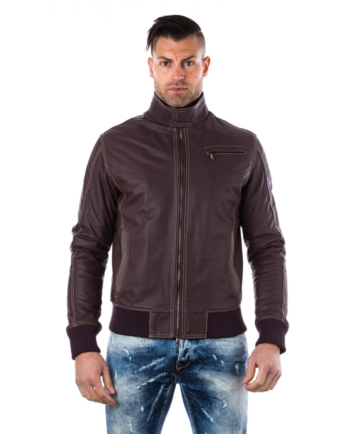men-s-leather-jacket-genuine-soft-leather-style-bomber-one-zip-pocket-wine-color-thil