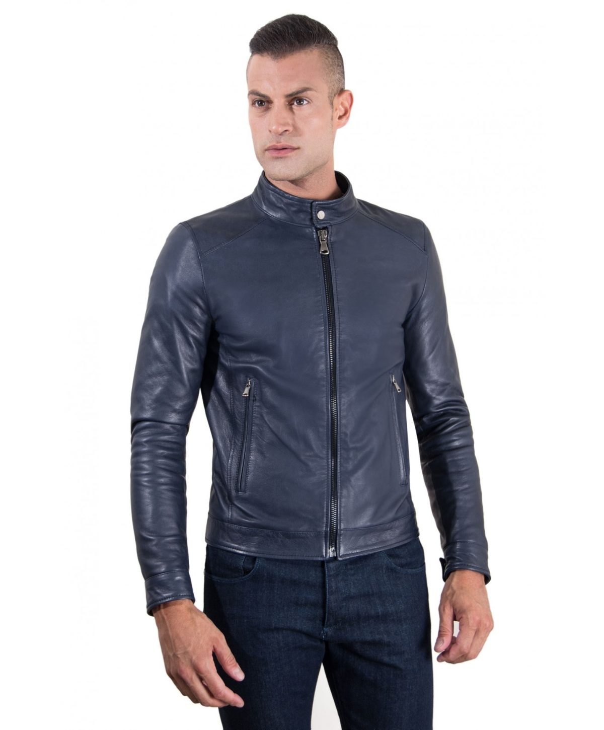 men-s-leather-jacket-korean-collar-two-pockets-blue-color-hamilton