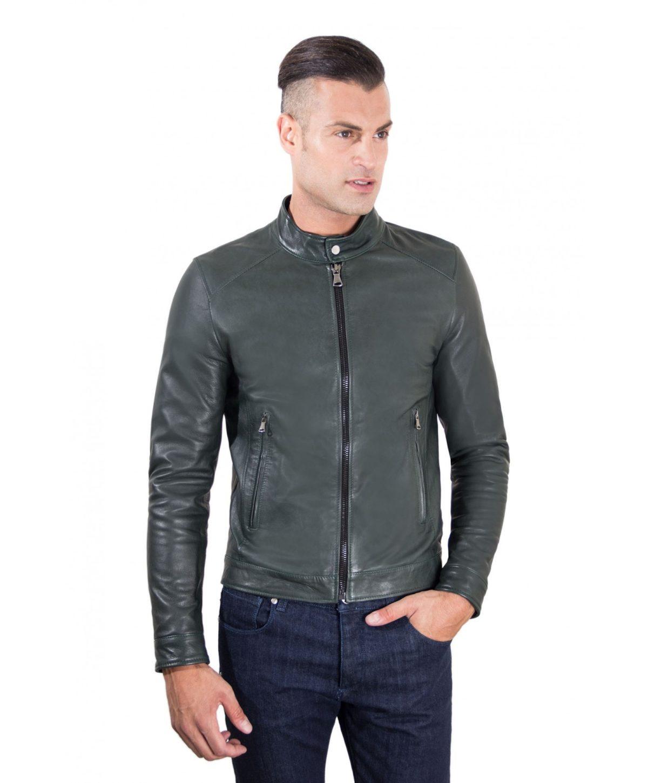 men-s-leather-jacket-korean-collar-two-pockets-green-color-hamilton