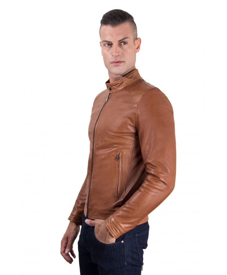 men-s-leather-jacket-korean-collar-two-pockets-tan-color-hamilton (3)