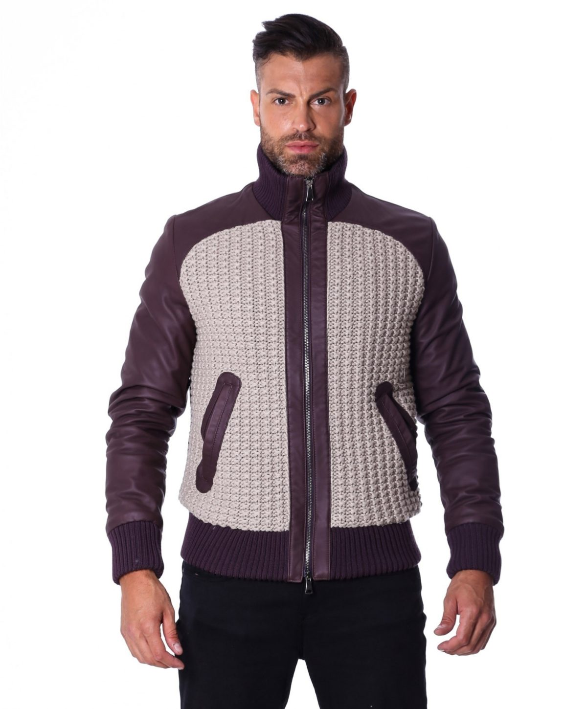 men-s-leather-jacket-style-bomber-wool-parts-and-zip-pockets-color-plum-u404