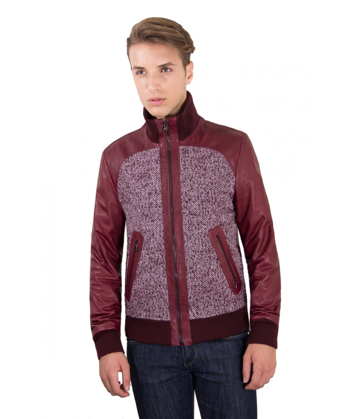 men-s-leather-jacket-style-bomber-wool-parts-and-zip-pockets-color-red-purple-u402