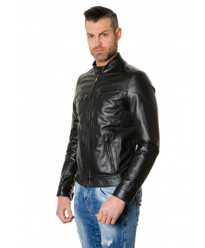roberto-black-colour-lamb-leather-jacket-smooth-aspect (2)