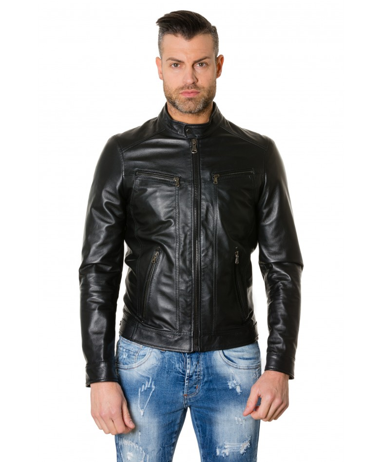 roberto-black-colour-lamb-leather-jacket-smooth-aspect