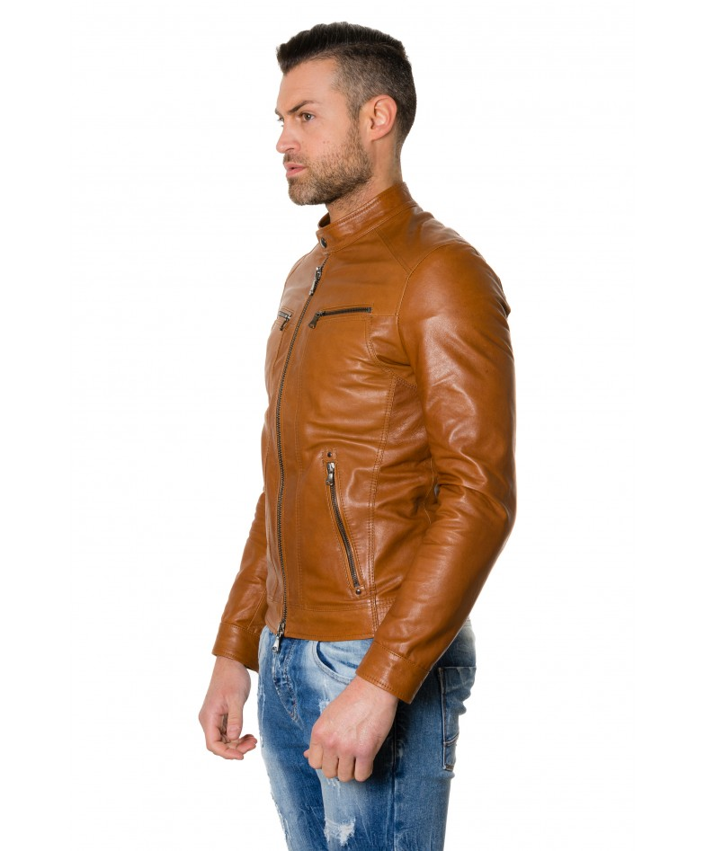 roberto-tan-colour-lamb-leather-jacket-vintage-aspect (2)