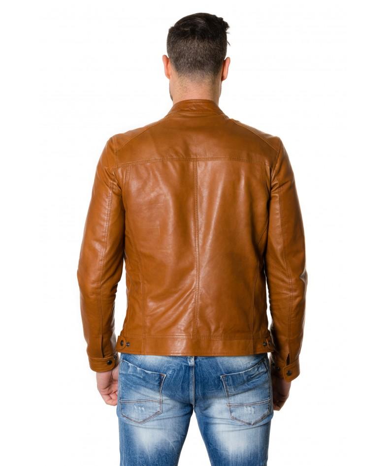 roberto-tan-colour-lamb-leather-jacket-vintage-aspect (3)