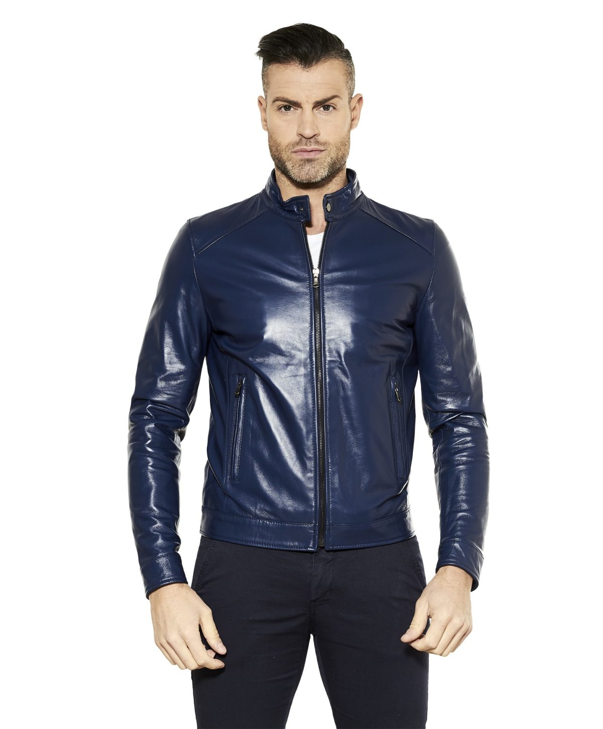 ted-bluette-colour-lamb-leather-biker-jacket-smooth-aspect