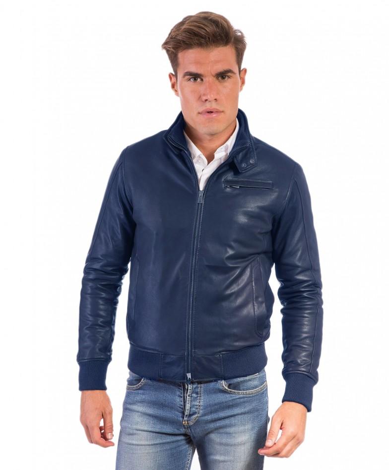thin-blue-lamb-leather-bomber-jacket