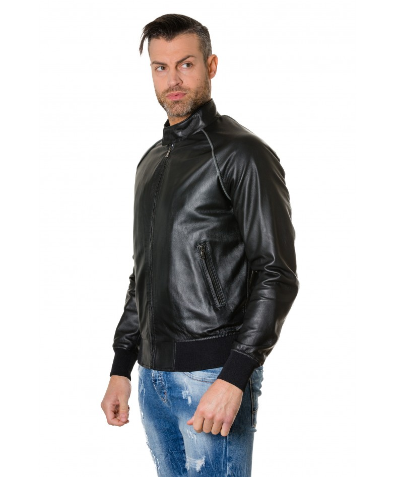1066-black-colour-leather-bomber-jacket-smooth-aspect (1)