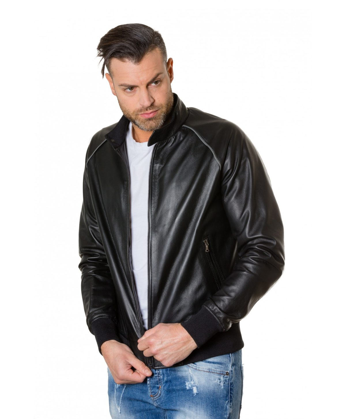 1066-black-colour-leather-bomber-jacket-smooth-aspect (2)