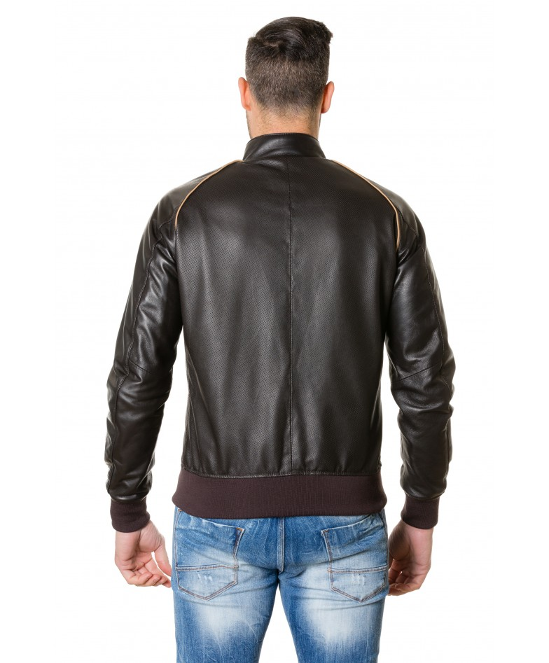 1066-dark-brown-colour-perfored-leather-bomber-jacket-smooth-aspect (4)