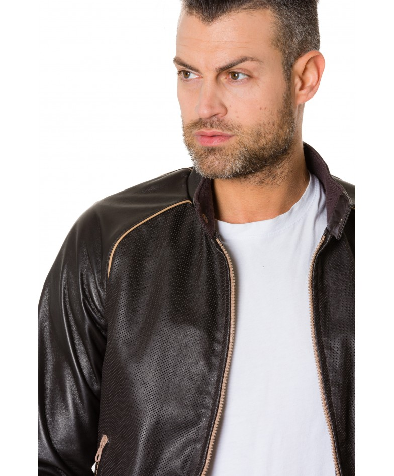 1066-dark-brown-colour-perfored-leather-bomber-jacket-smooth-aspect (5)