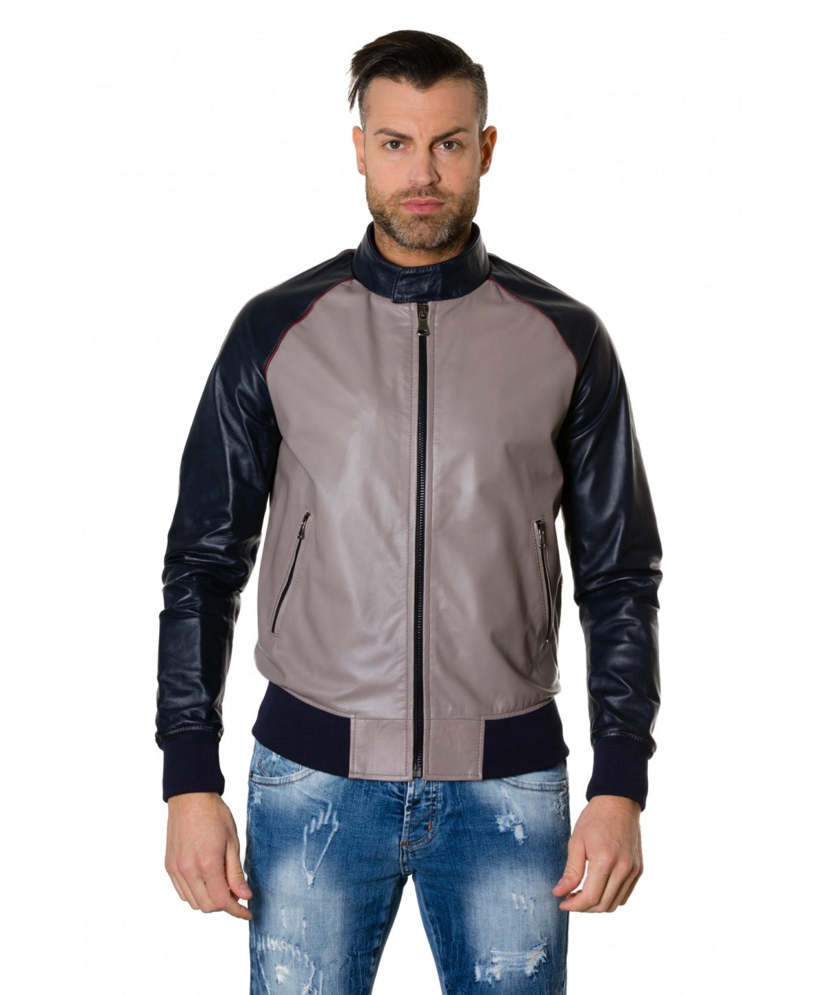 1066-greyblue-colour-leather-bomber-jacket-smooth-aspect