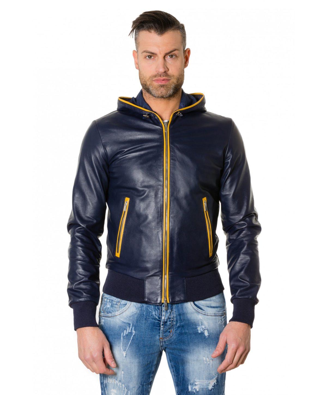 biancolino-blueyellow-colour-lamb-leather-hooded-jacket-smooth-aspect