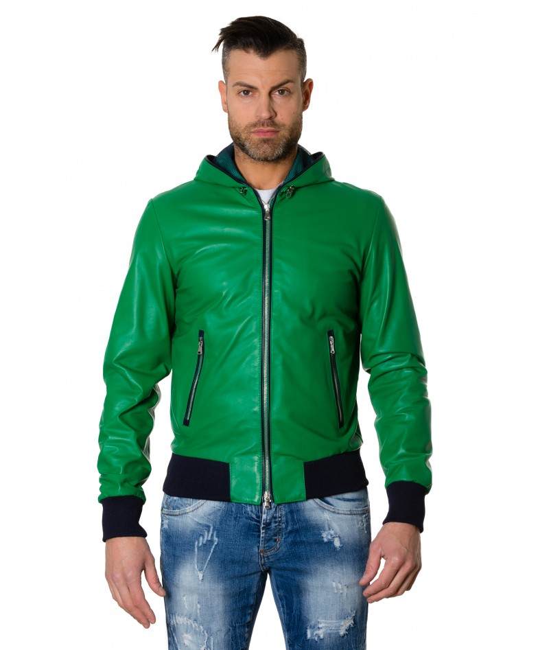 biancolino-greenblue-colour-lamb-leather-hooded-jacket-smooth-aspect