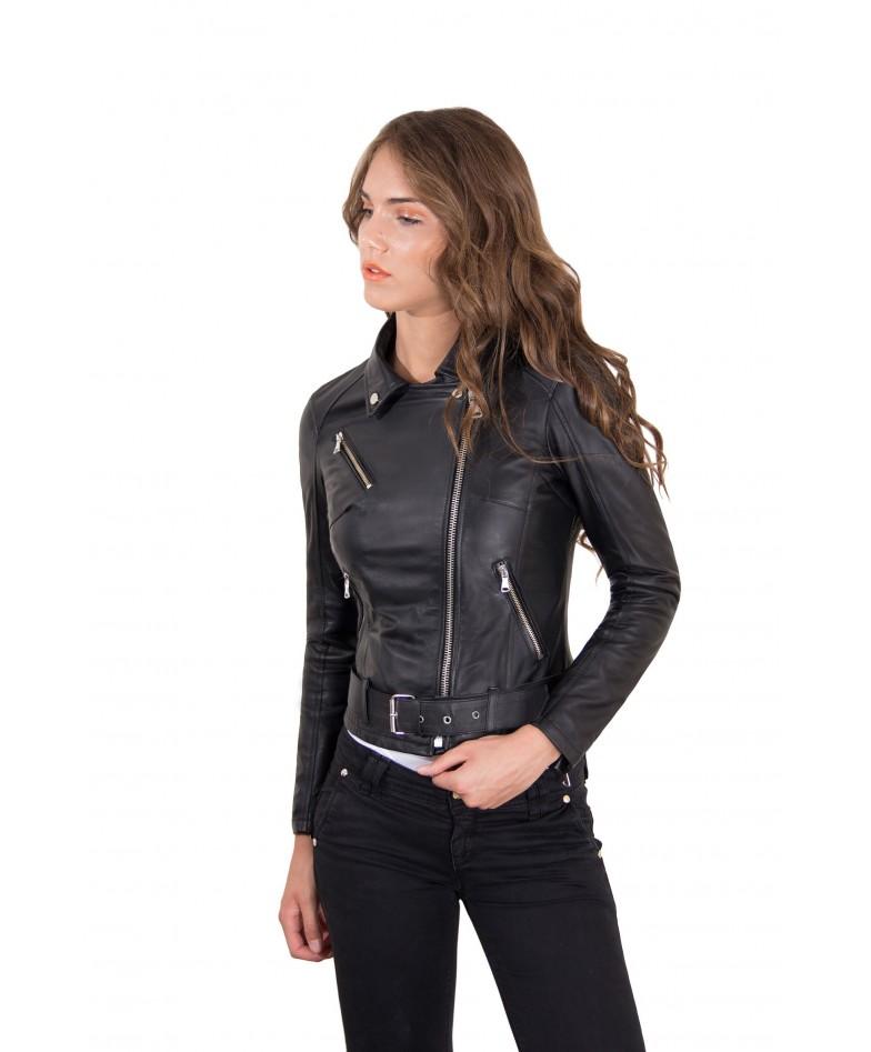 chiodo-in-pelle-da-donna-modello-biker-con-cintura-colore-nero-chiodo-perfecto-collezione-donna-autunno-inverno- (2)