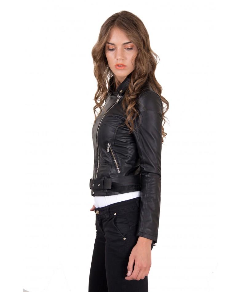 chiodo-in-pelle-da-donna-modello-biker-con-cintura-colore-nero-chiodo-perfecto-collezione-donna-autunno-inverno- (3)