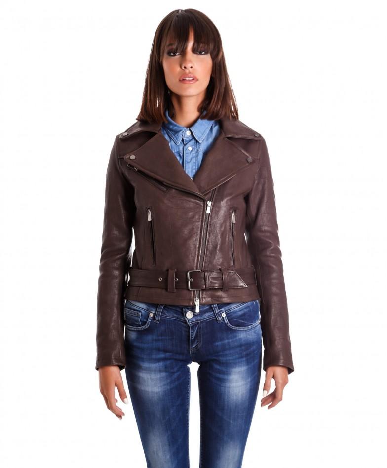 chiodo-in-pelle-donna-modello-biker-zip-trasversale-colore-marrone-sandy