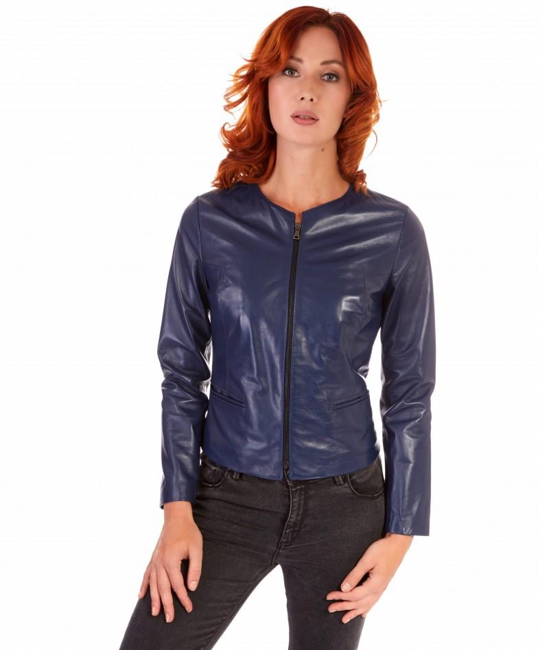 clear-bluette-color-lamb-leather-round-neck-jacket