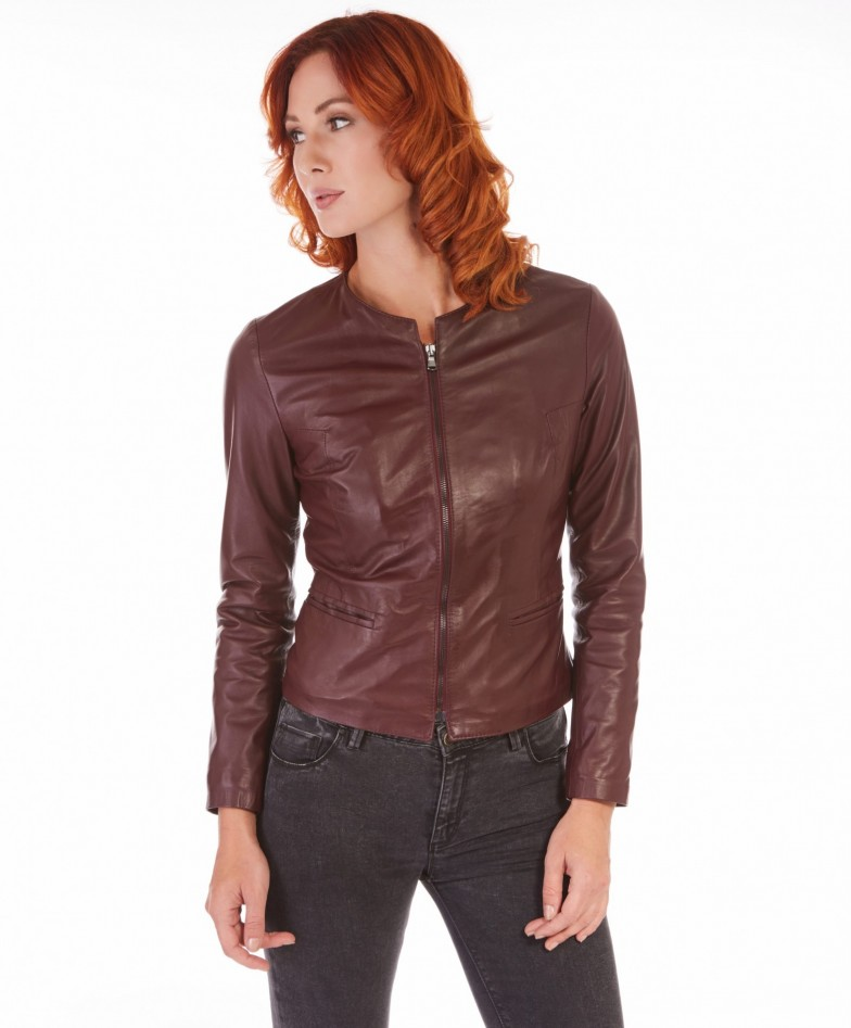 clear-red-purple-color-lamb-leather-round-neck-jacket