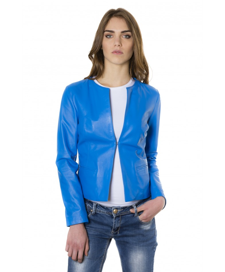 clear-sky-blue-color-lamb-leather-round-neck-jacket