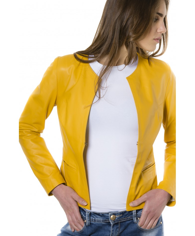 clear-yellow-color-lamb-leather-round-neck-jacket (2)