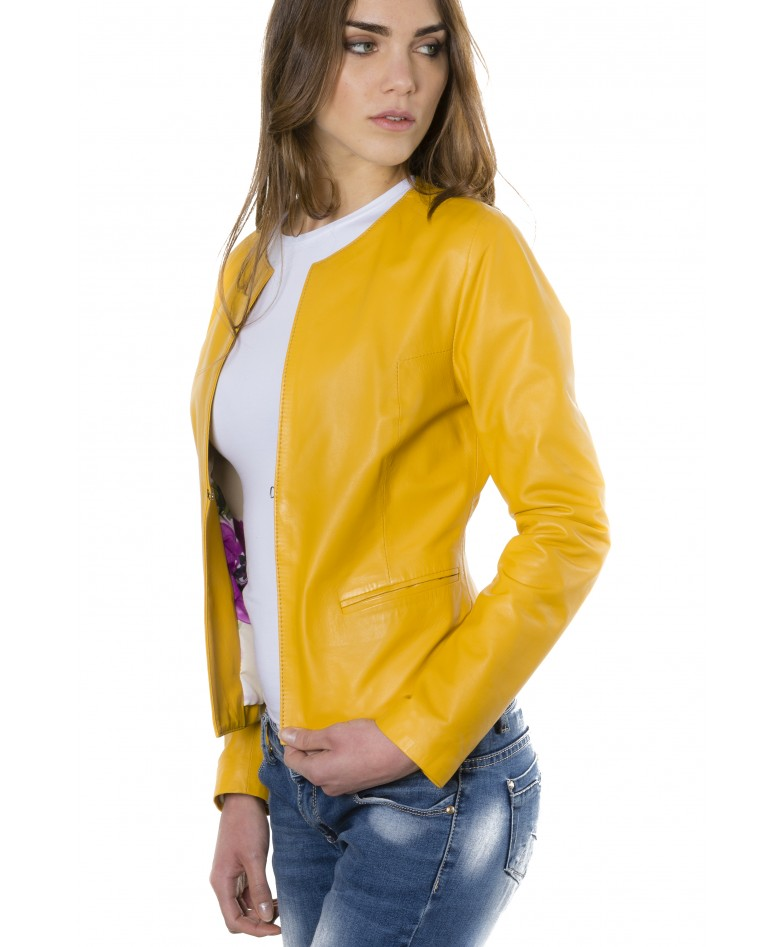 clear-yellow-color-lamb-leather-round-neck-jacket (3)