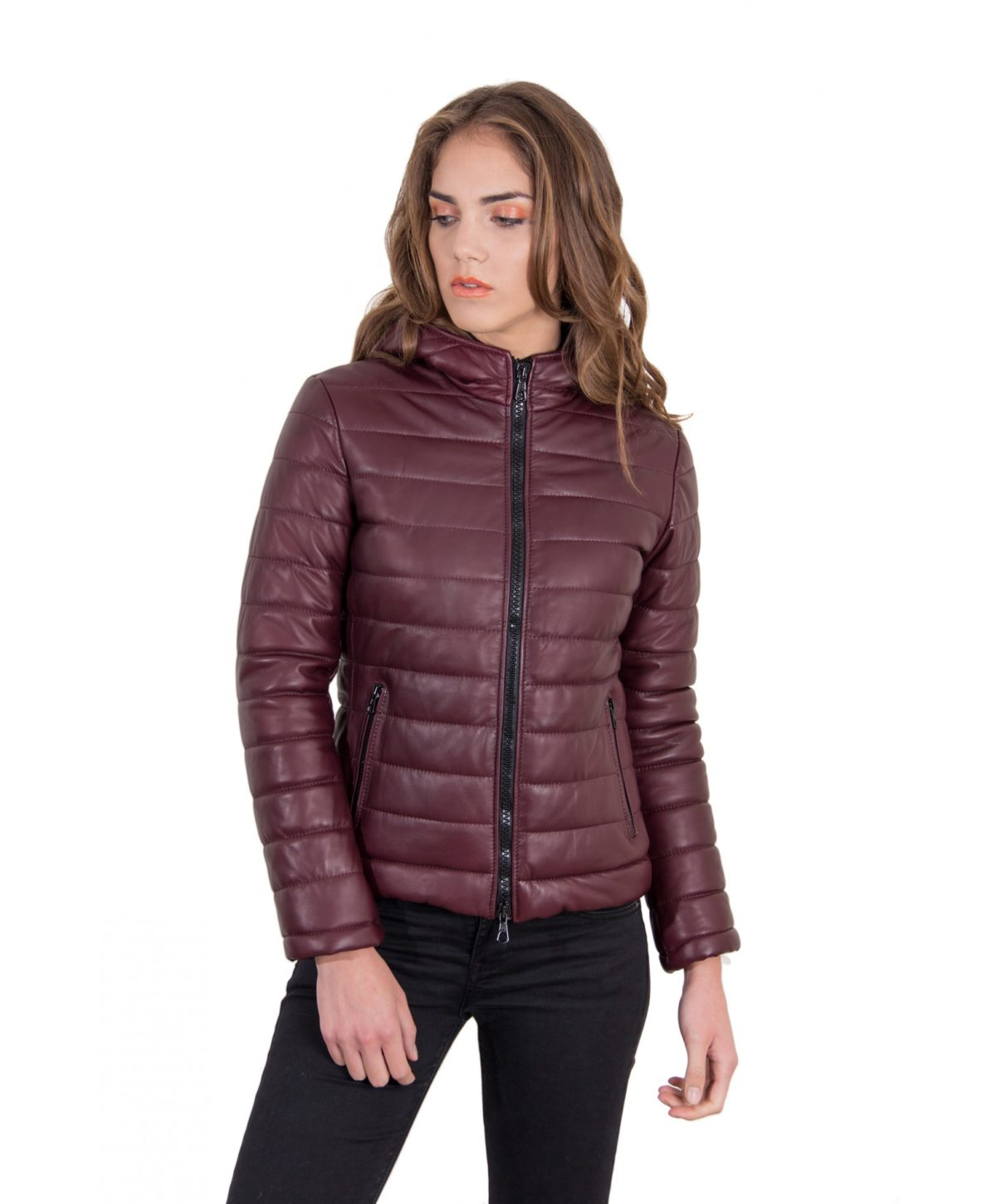 elsa-red-purple-color-nappa-lamb-leather-down-jacket-smooth-effect