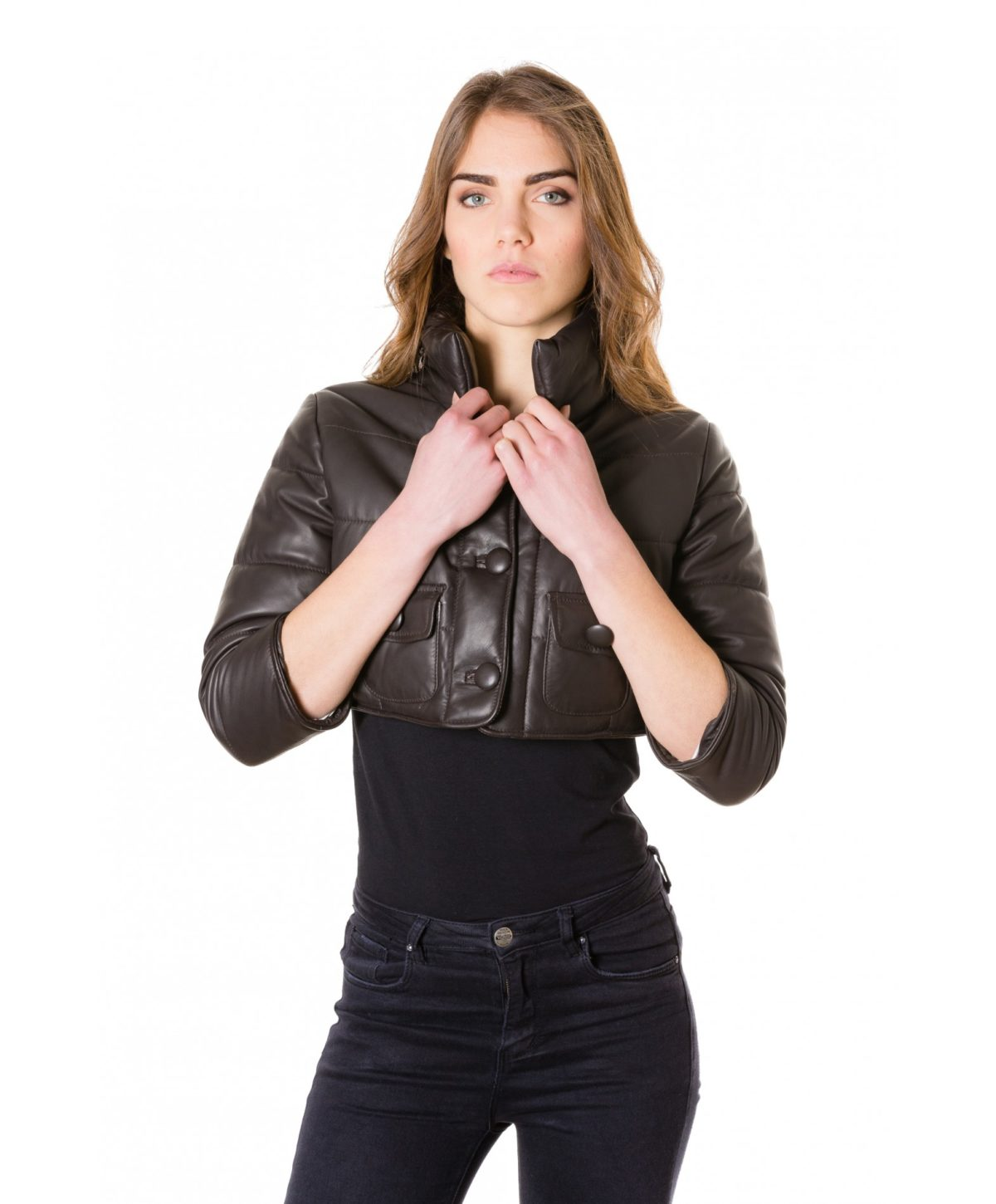 f107-dark-brown-colour-nappa-lamb-short-leather-jacket-smooth-aspect