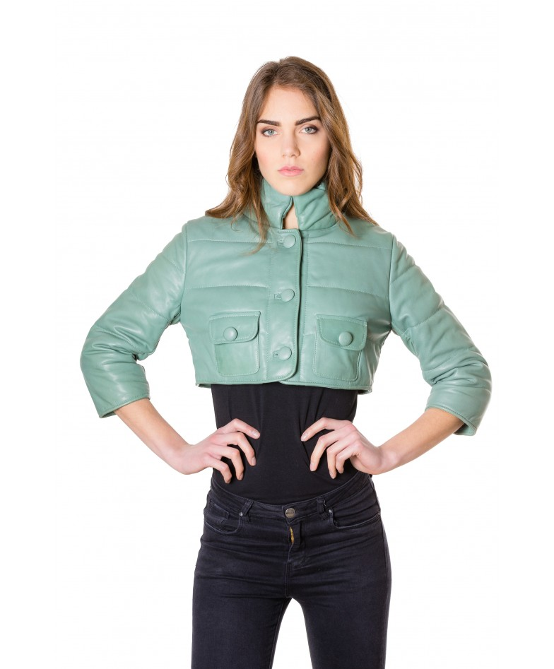 f107-green-colour-nappa-lamb-short-leather-jacket-smooth-aspect (1)