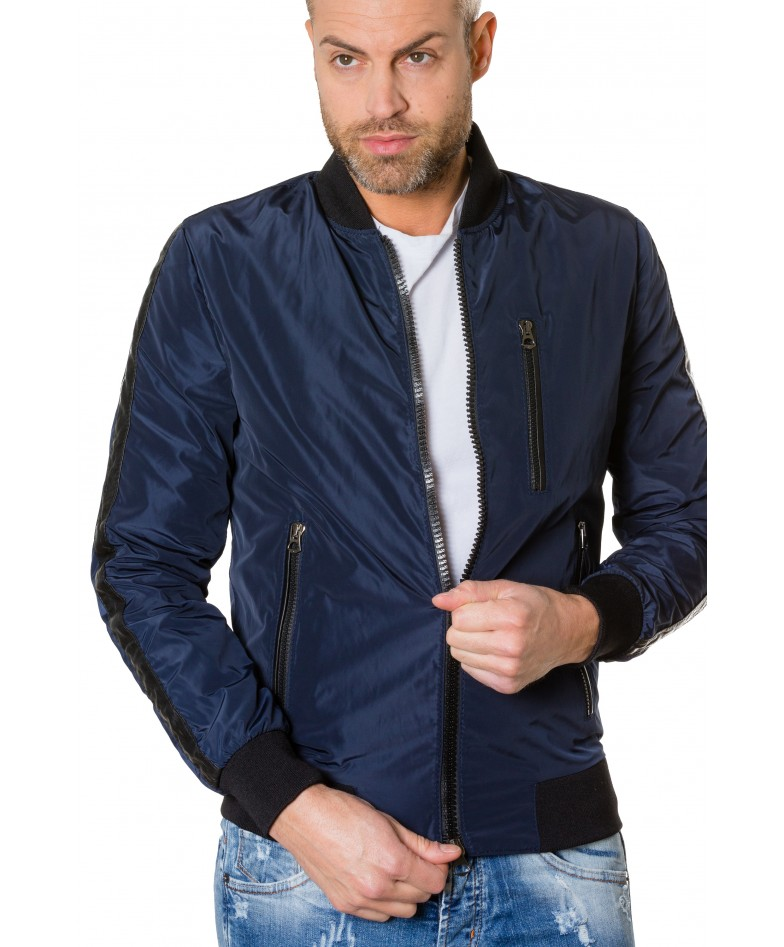 gaudil-blue-navy-colour-fabric-bomber-jacket-with-leather-inserts (1)