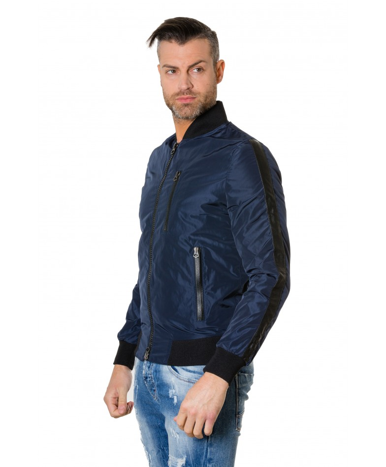 gaudil-blue-navy-colour-fabric-bomber-jacket-with-leather-inserts (2)