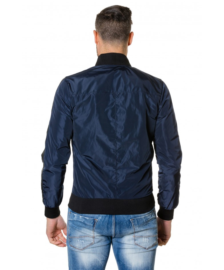 gaudil-blue-navy-colour-fabric-bomber-jacket-with-leather-inserts (3)
