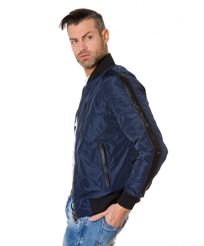 gaudil-blue-navy-colour-fabric-bomber-jacket-with-leather-inserts (4)