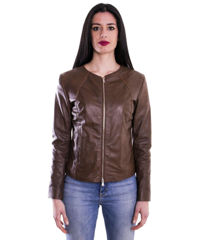 giacca-in-pelle-comfort-fit-da-donna-con-zip-centrale-e-girocollo-marrone-p151