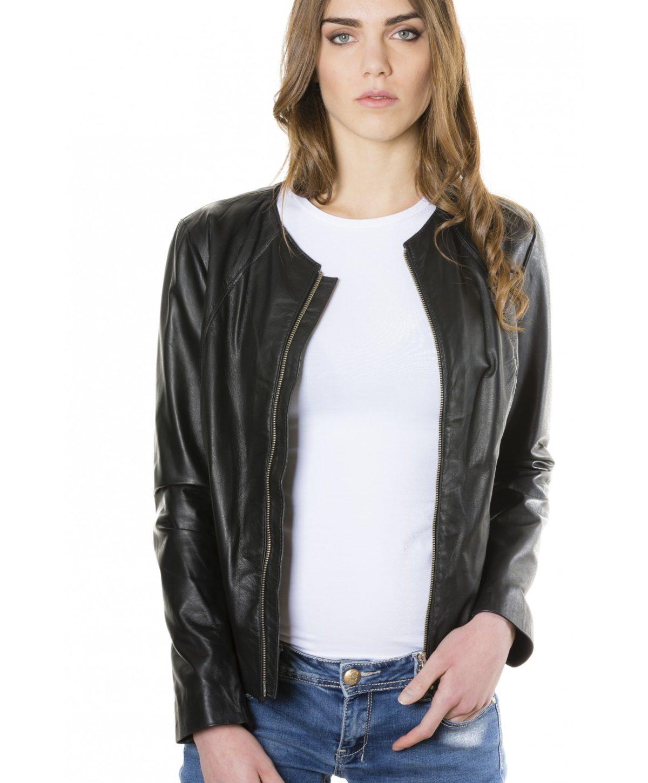 giacca-in-pelle-comfort-fit-da-donna-con-zip-centrale-e-girocollo-nero-p151- (3)