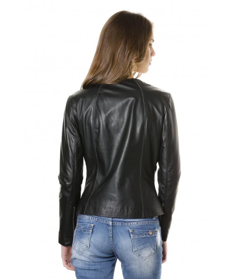 giacca-in-pelle-comfort-fit-da-donna-con-zip-centrale-e-girocollo-nero-p151- (4)