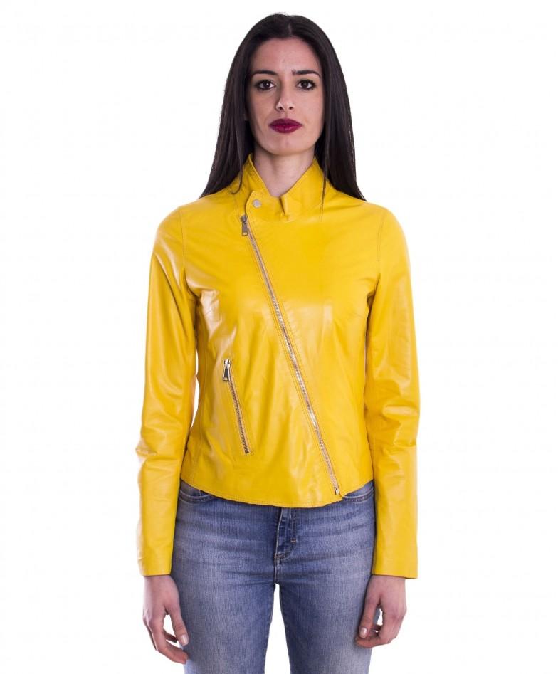 giacca-in-pelle-da-donna-cerniera-trasversale-colore-giallo-baronessa