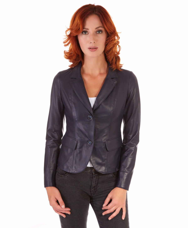 giacca-in-pelle-da-donna-modello-blazer-due-bottoni-colore-blu-blazer