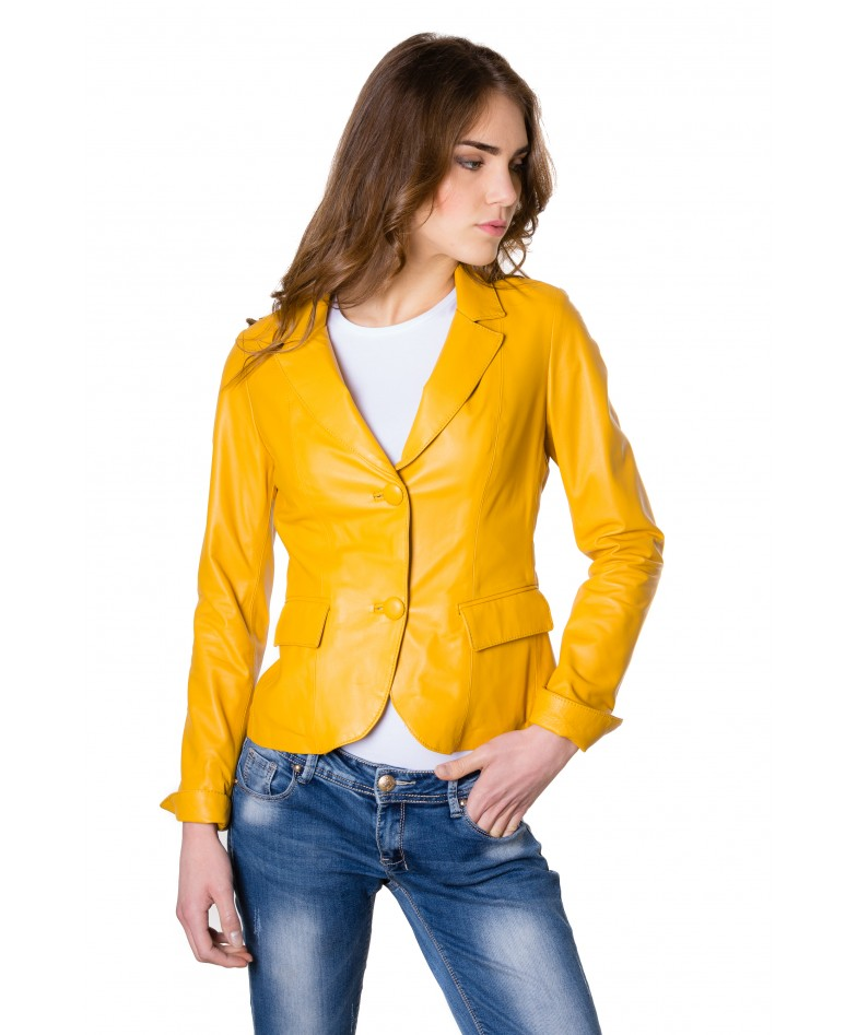 giacca-in-pelle-da-donna-modello-blazer-due-bottoni-colore-giallo (3)