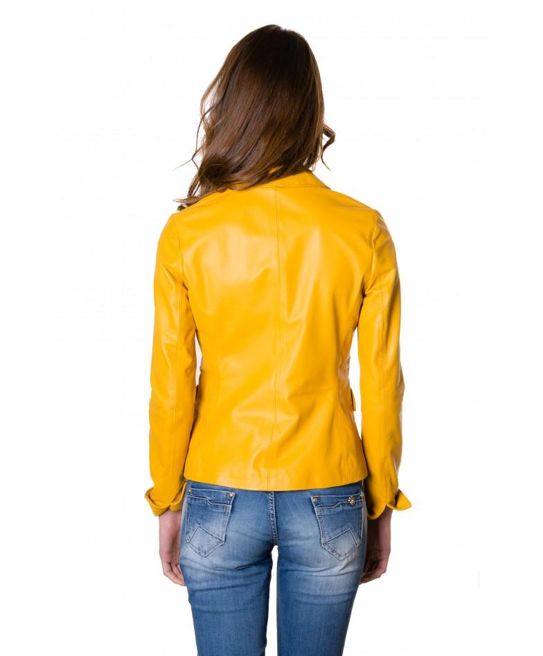 giacca-in-pelle-da-donna-modello-blazer-due-bottoni-colore-giallo (5)