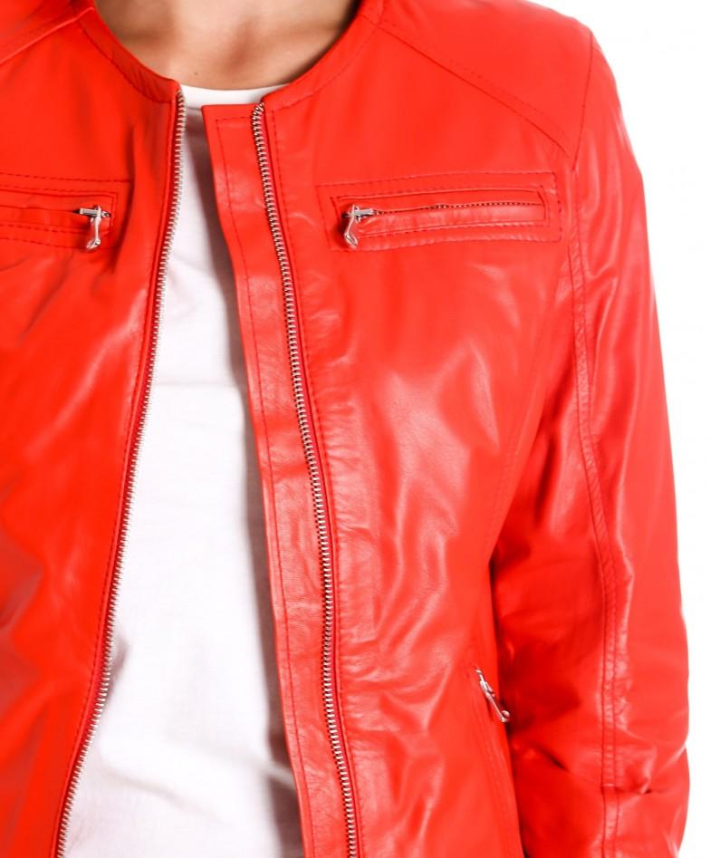 giacca-in-pelle-da-donna-modello-chiodo-biker-trapuntata-e-girocollo-rosso-m890- (1)