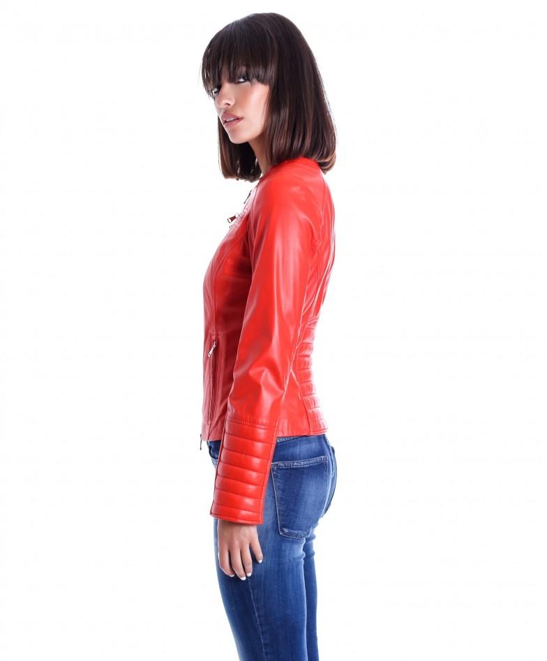 giacca-in-pelle-da-donna-modello-chiodo-biker-trapuntata-e-girocollo-rosso-m890- (2)