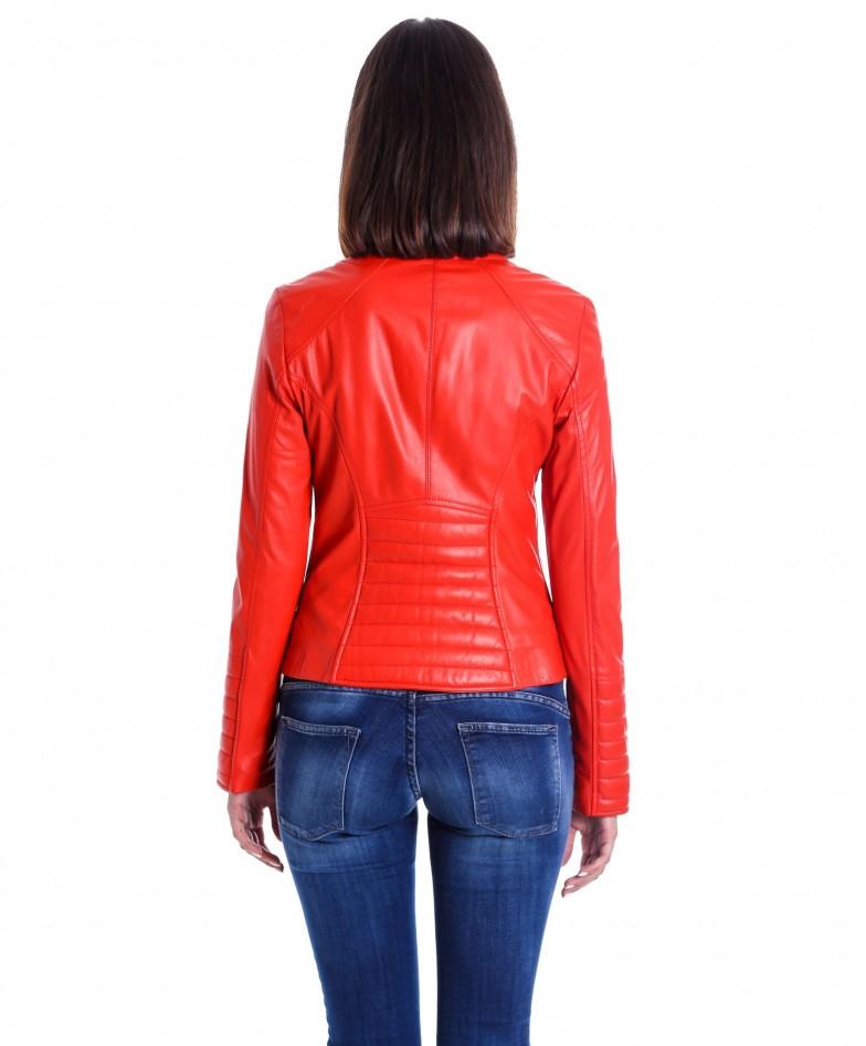 giacca-in-pelle-da-donna-modello-chiodo-biker-trapuntata-e-girocollo-rosso-m890- (3)