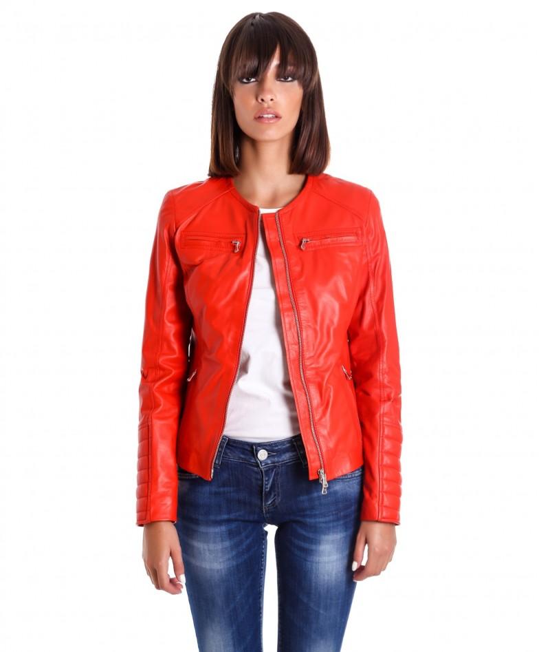 giacca-in-pelle-da-donna-modello-chiodo-biker-trapuntata-e-girocollo-rosso-m890- (4)