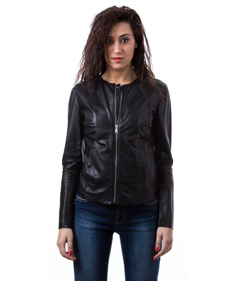 giacca-in-pelle-da-donna-vera-pelle-con-zip-centrale-e-girocollo-nero-clear